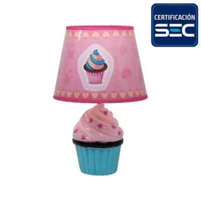Lámpara de Mesa Cup Cake Rosado 1 Luz E27