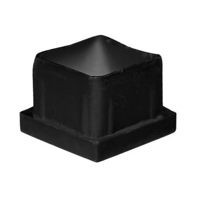Regatón 2,5x2,5x2 cm interior negro 100 unidades