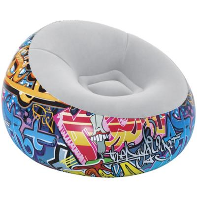 Pouf inflable graffiti D112x66