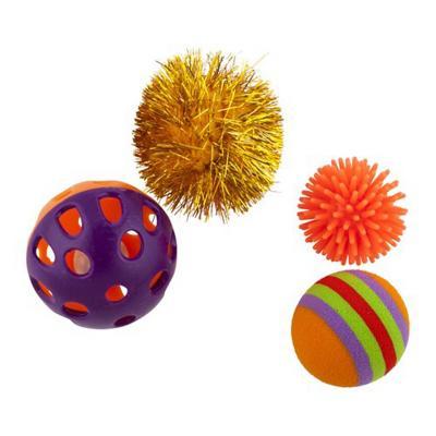 Set 4 juguetes gato pelotas no publicar