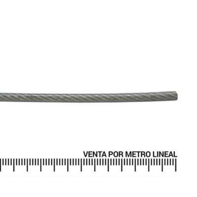 "Cable de acero forro PVC 3/32"" metro lineal"