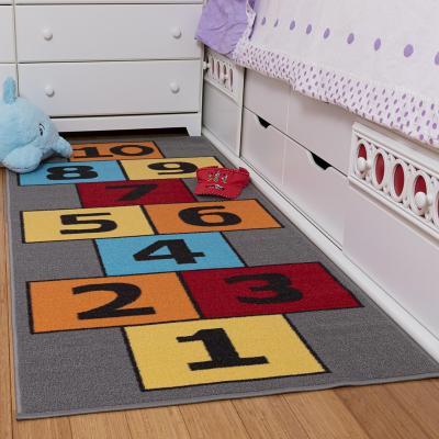 Alfombra pasillo infantil 80x180 cm gris