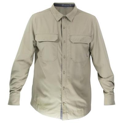 Camisa hombre beige talla L hw oregon geo tech dry