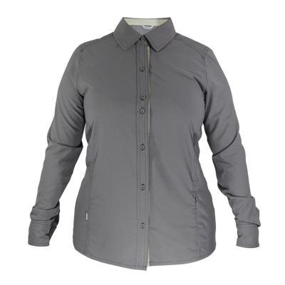 Camisa mujer gris talla S hw oregon geo tech dry