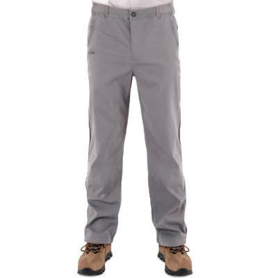 Pantalón hombre gris talla M quebec fibra strech