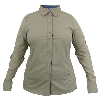 Camisa mujer beige talla S hw oregon geo tech dry