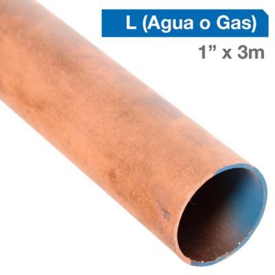 """Cañería Cobre L Gas-Agua 1"""" x 3m"""