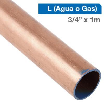 """Cañería Cobre L Gas-Agua 3/4"""" x 1m"""