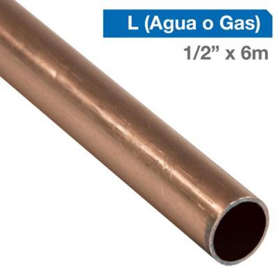 """Cañería Cobre L Gas-Agua 1/2"""" x 6m"""