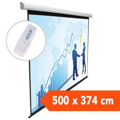 Telón eléctrico 5,00x3,74 mts