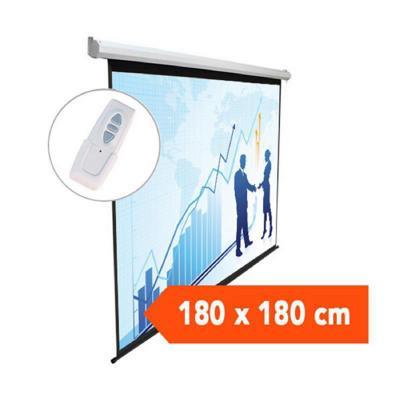 Telón eléctrico 1,80x1,80 mts