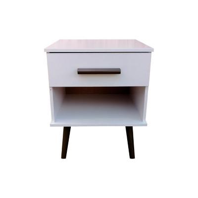 Velador iowa 1 cajón 52x40x39 cm blanco