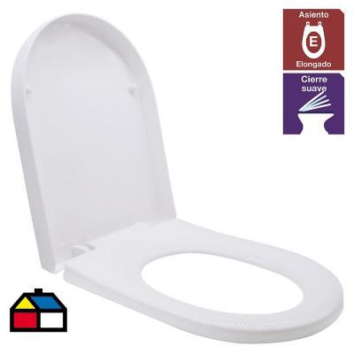 Asiento WC Acros cierre suave blanco