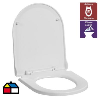 Asiento WC Atos y Ares cierre suave blanco