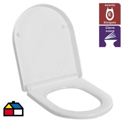 Asiento de urea WC Atos cierre suave blanco