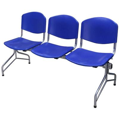 Banqueta iso polipropileno 3 asientos azul