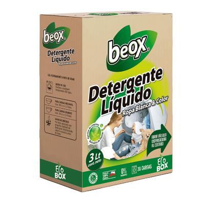Detergente líquido ecobox 3 litros