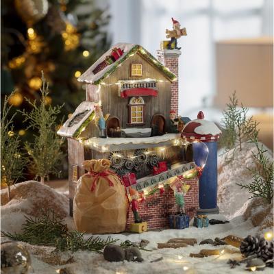 Casa iluminada de navidad