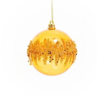 Esfera pintada glitter 8 cm