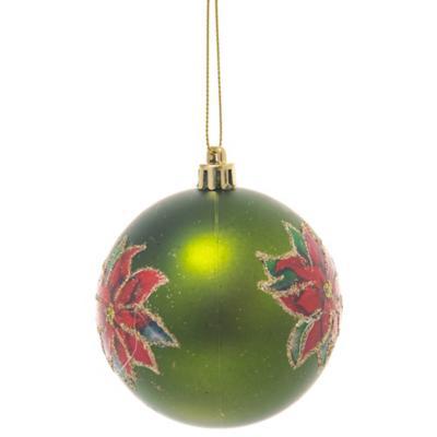 Esfera poinsettia 8 cm verde