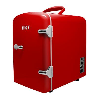 Mini frigobar 4 litros retro rojo