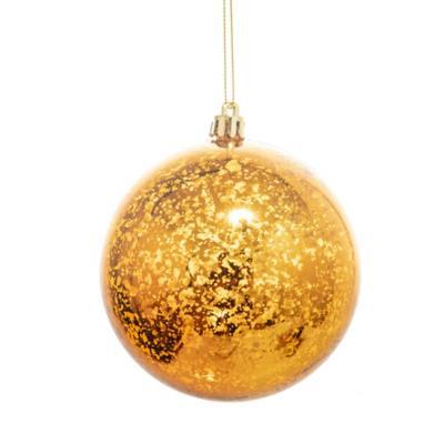Esfera luna 10 cm dorada
