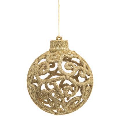 Esfera barroca 9 cm dorada