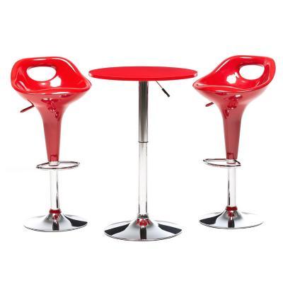 Mesa de bar + 2 taburetes rojo