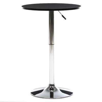 Mesa de bar + 2 taburetes negro
