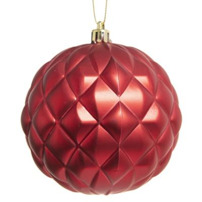 Esfera relieve 10 cm roja