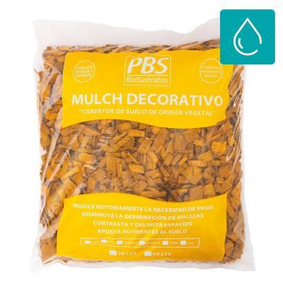 Pack 50 mulch decorativo seleccionado 30l amarillo