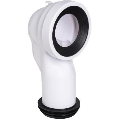 Manguito 90 salida Vertical para inodoro Dual con junta labiada