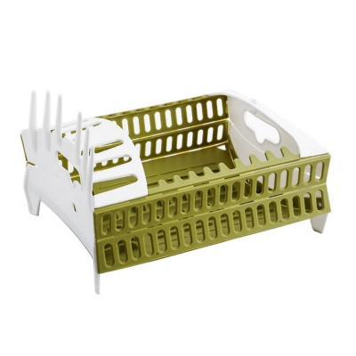 Secador platos plegable cocina 30x31x20 cm verde