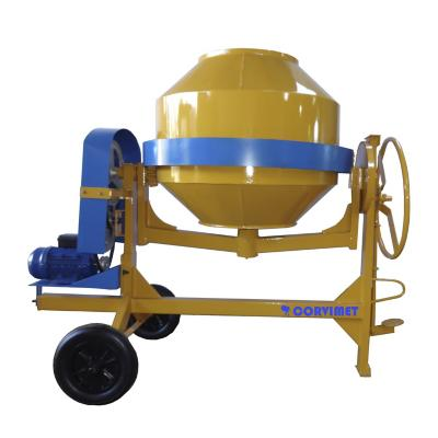 Hormigonera volteo lateral eléctrica 400 litros