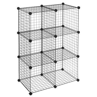 Estante 109x71x35 cm metálico 6 cubos