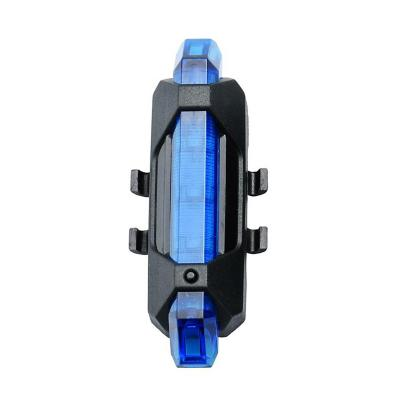 Luz led bicicleta 4 funciones recargable -azul