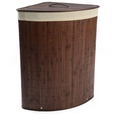 Cesto de ropa esquina bambú chocolate