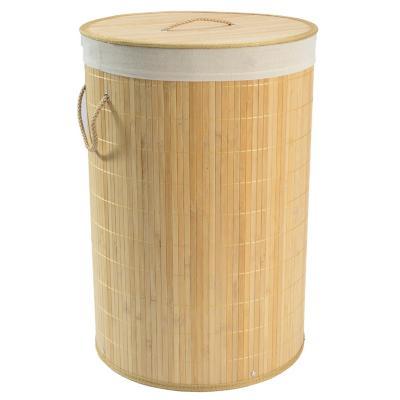 Cesto de ropa redondo bambú natural