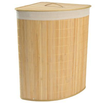 Cesto de ropa esquina bambú natural