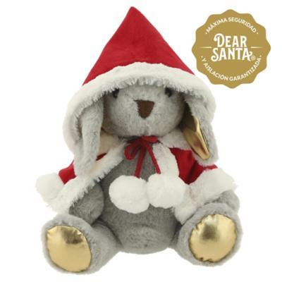 Conejo con capa navidad 24 cm