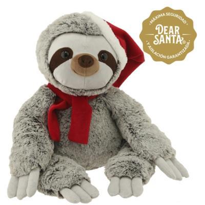 Oso perezoso gorro/bufanda navidad 35 cm