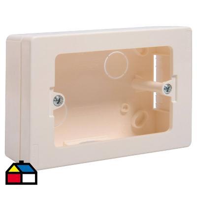 Caja de distribución sobrepuesta 124x80,5x45 mm PVC