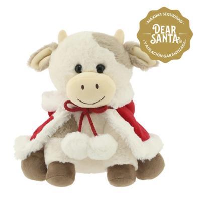 Vaca con capa navidad 24 cm