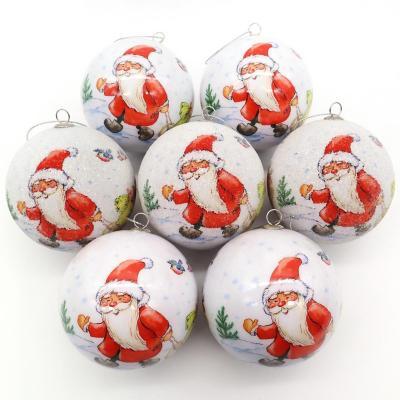 Set x7 esferas 7,5 cm santa