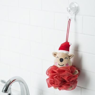 Esponja de baño roja