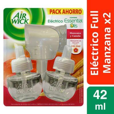 Kit aparato eléctrico + 2 recargas manzana canela 21 ml