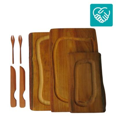 Pack tablas de picoteo madera 3 unidades