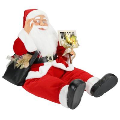 Santa sentado música 90 cm