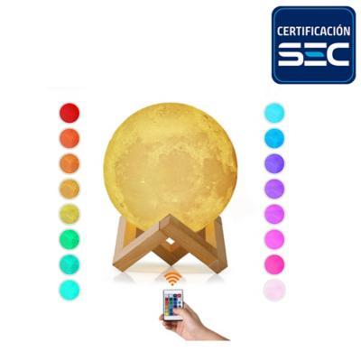 Lampara luna 16 colores control remoto
