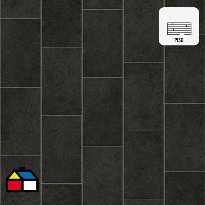 Piso vinílico negro rollo 64 m2